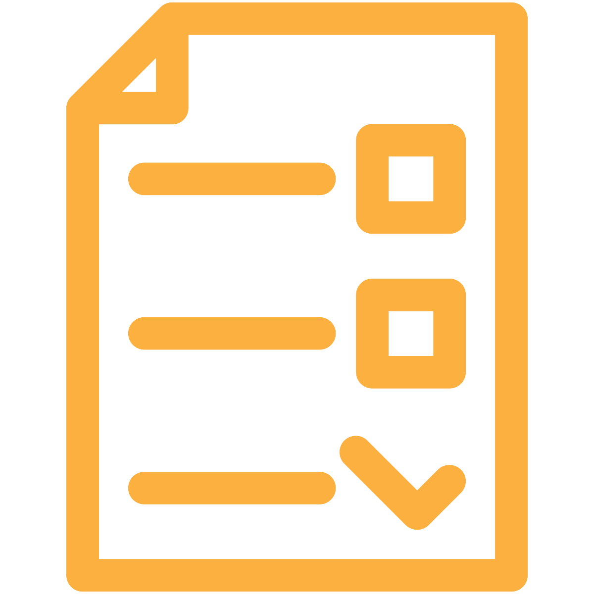 gold checklist icon