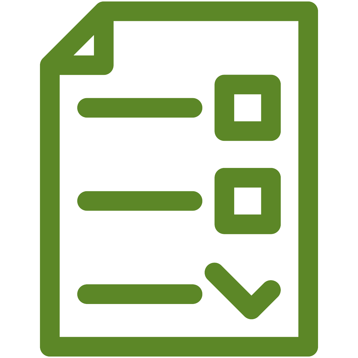 checklist icon in green