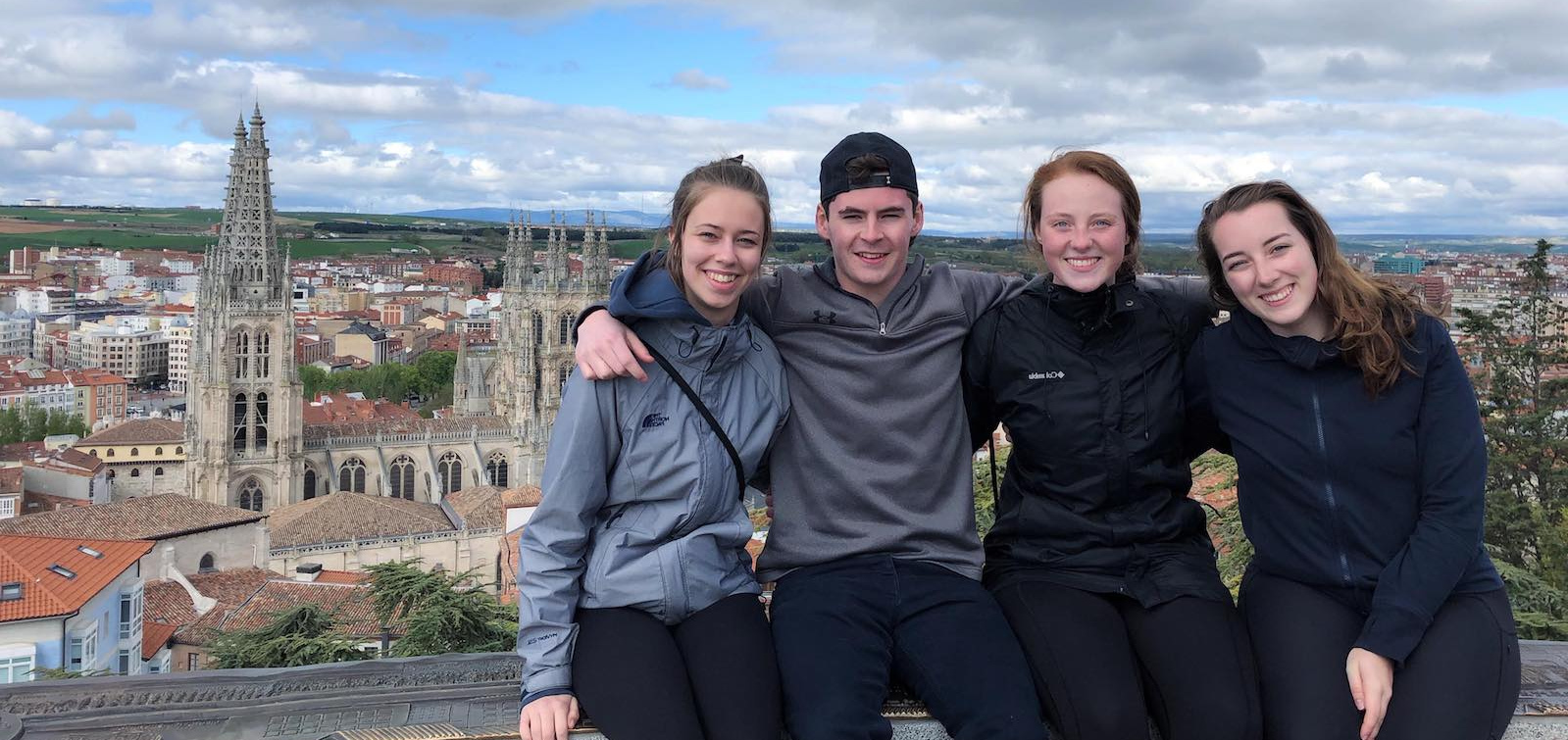 four upei students in spain on international exchange