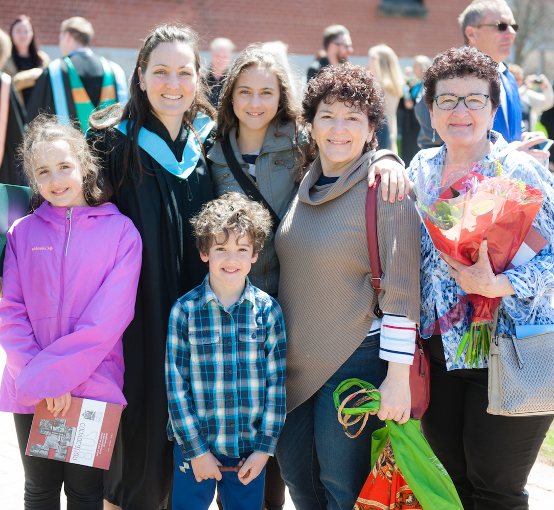 a family at convocation