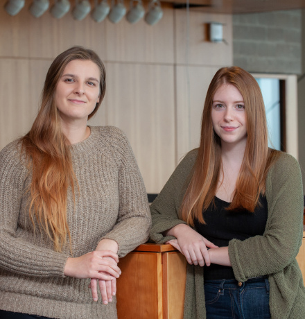upei environmental studies students Angela Costello and Danelle Finney